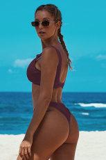 Fuchsia Knotted Bikinis Bikinis