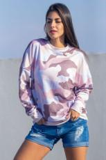 더스티 핑크 디지털 카모 프린트 셔츠