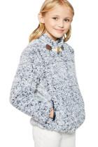 Kék hosszú ujjú pulóver pulóver lányoknak