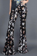 Shining Stars Sequined Flare Pants