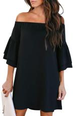 Kincê Offêwazê Ruffled Sleeve Ruffled Black