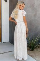 Biała koronkowa sukienka maxi Fill Your Heart