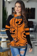 Oranssi Halloween-kurpitsahuppari