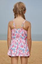 Blårosa Flerlags Ruffles Toddler Girls Swim Dress