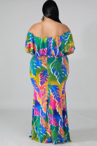 Plus Size Dress Mermaid of Palms Tropical