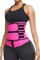 Sauna rosa esporte suor cinturas neoprene body shaper