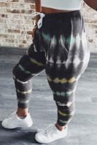 Gri Batik İpli Bel Jogging Pantolon