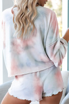 Orange Tie-Dye Pyjamas Loungewear Set