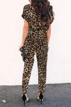 Chic leopardmönstrad jumpsuit