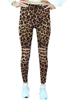 Leopard Hollow Out Fitness Activewear legging