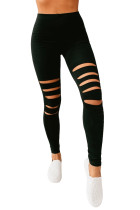 Black Hollow Out Fitness Activewear legging