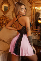 Sweet Pink Lace Nachthemd Babydoll