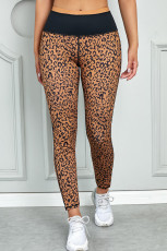 Mocha Leopard Leggings Active çap bike