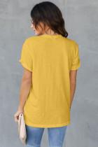 T-shirt amarelo da base do girassol