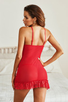 Rote Spitze Braut Babydoll