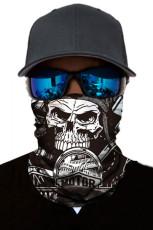 Skelton Skull Head Scarf Gesichtsmaske