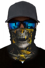 Gele schedel hoofd sjaal gezicht Bandana nekbeenkap