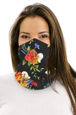 Poppy Floral multifunctionele hoofddeksels gezichtsmasker hoofdband nekbeschermer