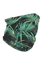 緑の熱帯のシームレスな顔バンダナネックゲートル