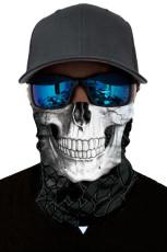Witte schedel hoofd sjaal gezichtsmasker