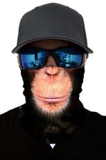 Baviaan print fietsen motorfiets hoofd sjaal nekwarmer gezichtsmasker