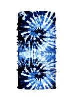 BlueTie Dye Print arcmaszk és nyakmelegítő nap UV-védelemmel