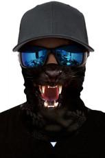Черное животное принт Велоспорт мотоцикл платок шеи теплее маска для лица