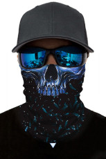 All Blue Skull Head Scarf gezichtsmasker