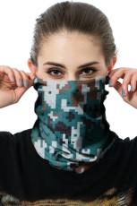 グリーンカモプリントアウトドアサイクリングスポーツスカーフネッカチーフフェイスマスク