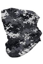 Серый цифровой камуфляж с принтом многофункциональный головной убор