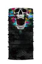 Mehrfarbige Schädel-Kopftuch-Gesichtsmaske