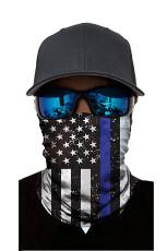Black Stars Stripes Print tuulenpitävä kilpi Bandanas Unisex Neck Gaiter