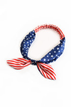 Csíkok és csillagok zászló nyomtatási keresztező csomó hajpánt