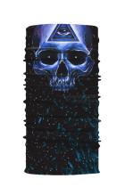 All Blue Skull Head Scarf gezichtsmasker