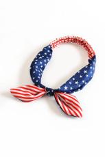 Streifen und Sterne Flaggenmuster Crossing Knot Hairband