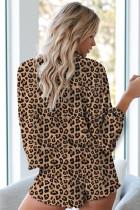 Пижамный комплект с леопардовым принтом Tie Dye