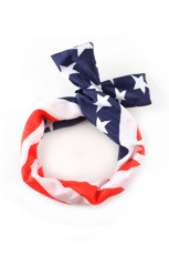 American Flag Crossing Knot Hairband