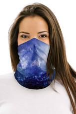 Blue Galaxy multifunctionele hoofddeksels gezichtsmasker hoofdband nekbeschermer
