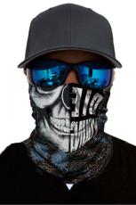 Asymmetric Skull Head Scarf Wajah Bandana Neck Gaiter