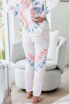 Utopia Cotton Blend Tie Dye Hoodie Loungewear Joggers