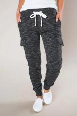 Gemêleerde zwarte casual joggingbroek met zakken