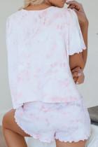 เซ็ตกางเกงขาสั้นแขนสั้น Pink Tie Dye