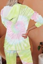 Kuning Utopia Cotton Blend Tie Dye Hoodie Joggers Loungewear