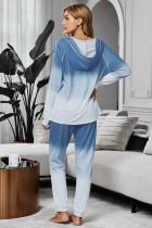 Capispalla da jogging blu con cappuccio in misto cotone tinta unita Utopia