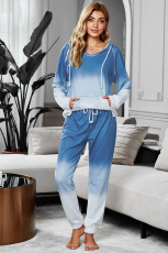 Blauwe Utopia katoenmix Tie Dye Hoodie Joggers Loungewear