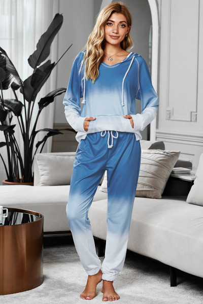 Blond Utopia Cotton Blend Tie Dood Hoodie Joggers Loungewear