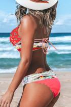 Bikini Multicolor Bohemian Cetak Tropis
