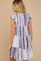 Magic Maker Gray Multi Tie Dye Dress