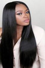 Czarna peruka z prostymi włosami