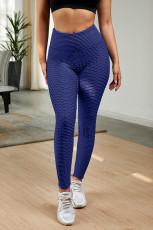 Blaue Leggings in perfekter Form
